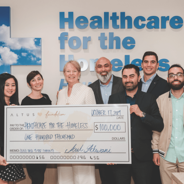 Altus Foundation Gifts $100,000 To Healthcare For Homeless