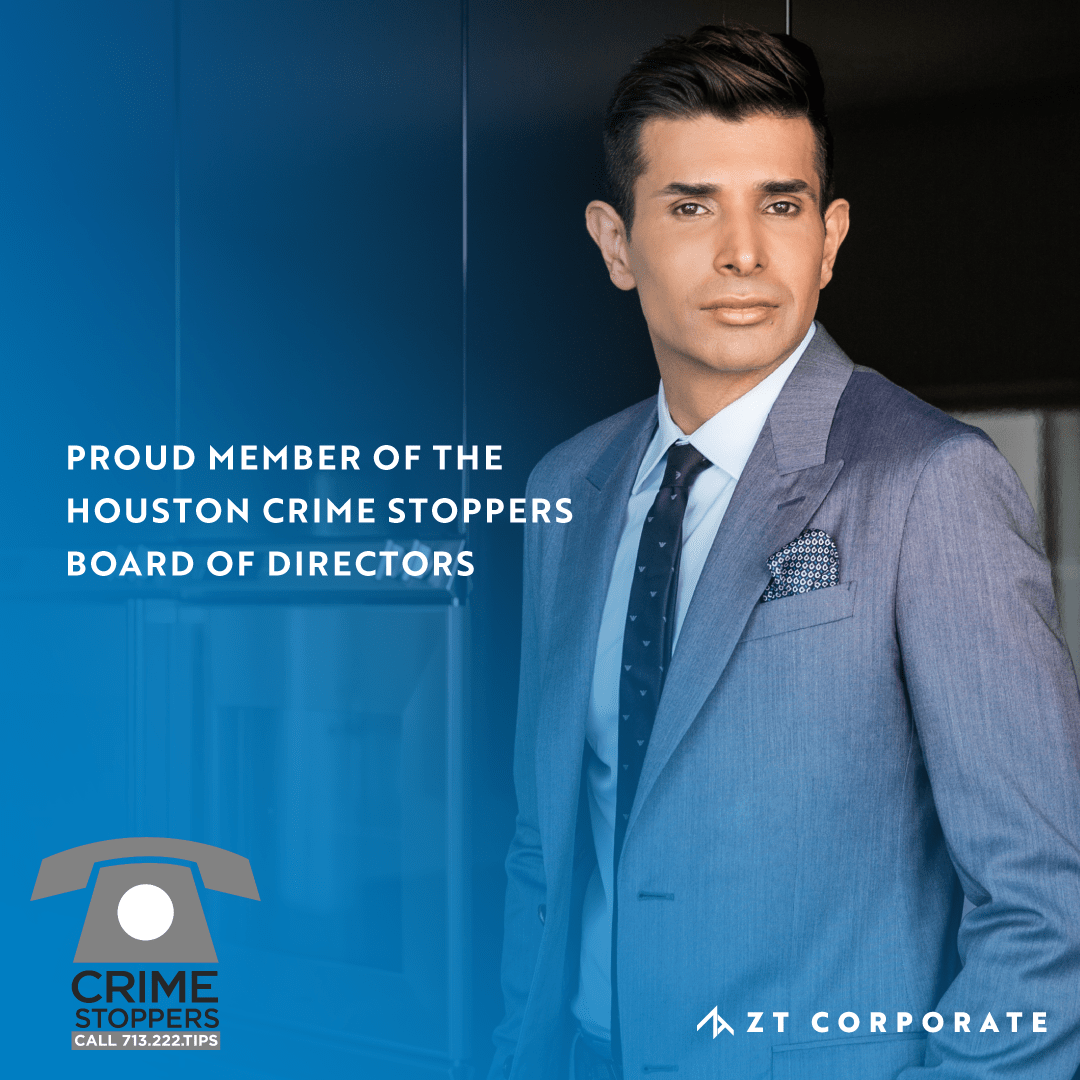 ZT Corporate CEO Taseer Badar Appointed to Crime Stoppers of Houston Board of Directors